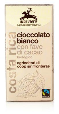 Tavoletta cioccolato bianco con fave