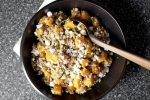 Farro, zucca arrosto e formaggio