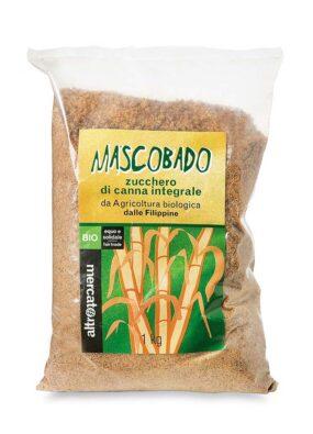 Zucchero bio integrale di canna Mascobado 1 kg Altromercato