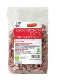 Maccheroncini 100% Lenticchie rosse Bio