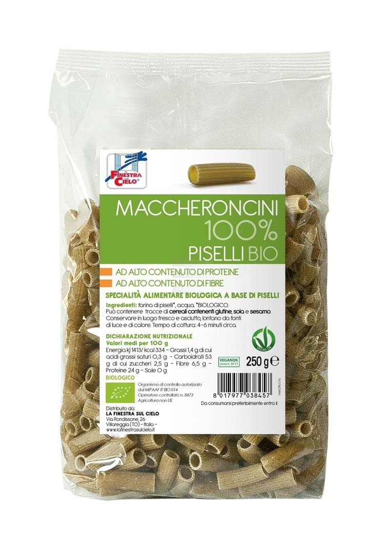 Maccheroncini 100% Piselli bio