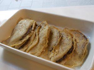 Crespelle patate e radicchio