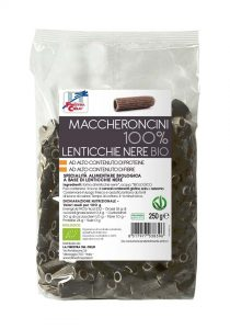 Maccheroncini 100% Lenticchie Nere bio