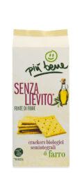 Crackers semintegrali di Farro senza lievito