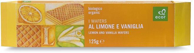 Wafers Limone e Vaniglia