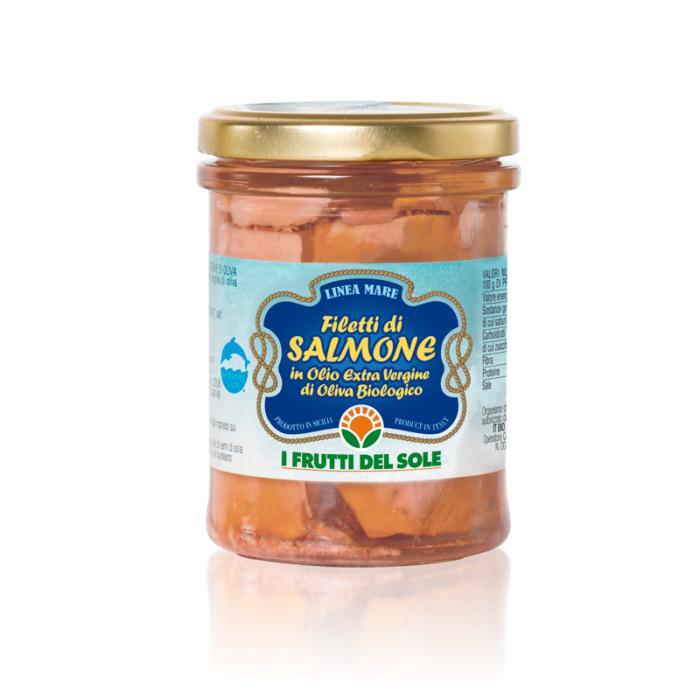 Filetti di Salmone in Olio e.v.o.