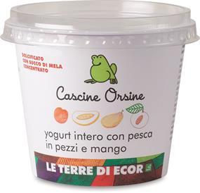 Yogurt intero Pesca in pezzi e Mango Cascine Orsine