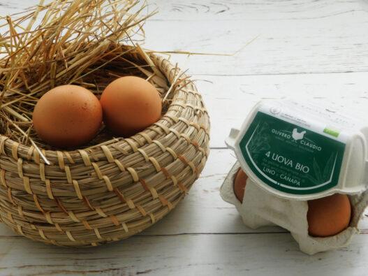 4 uova sfuse di gallina nutrita con semi di Lino e Canapa