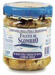 Filetti di sgombro in olio extra vergine di oliva