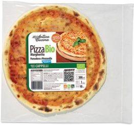 Pizza margherita Senatore Cappelli con mozzarella a basso contenuto di lattosio (< 0,1%)