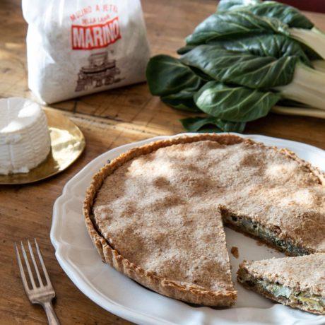 Torta Salata di Coste o Costine e Ricotta di Capra
