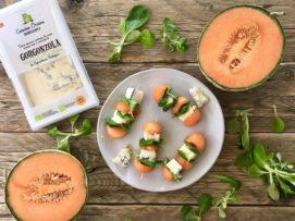 Spiedini Melone e Gorgonzola