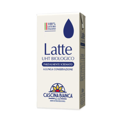 Latte bio parzialmente scremato UHT 1L Cascina Bianca