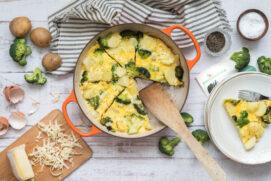 Frittata di broccoli, patate e toma
