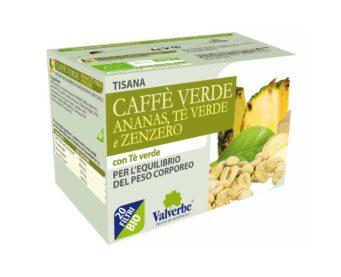 Tisana Caffè Verde, Ananas, Tè Verde e Zenzero Valverbe